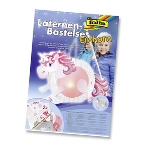 Folia Laternen-Bastelset Einhorn | Dodax.co.uk