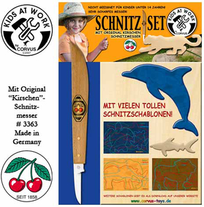 Image of Kids at Work Schnitz-Set Messer &Holz