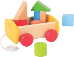 Image of Beeboo - Pull Along Wagon with Building blocks (0027999FSC)