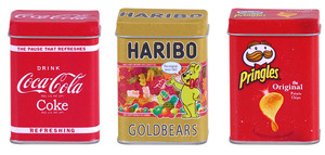 Metalldosen Haribo, Coca Cola u. Pringle | Dodax.ch