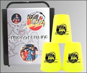 FlashCups Monsterline neongelb m. DVD | Dodax.ch