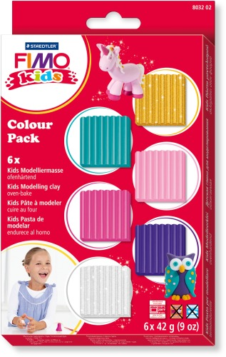 FIMO kids Colour Pack - girlie 6x42g | Dodax.ch