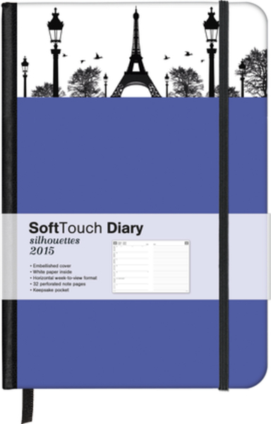 SoftTouch Diary Silhouettes Paris 2015 WEEKLY 16x22 | Dodax.at