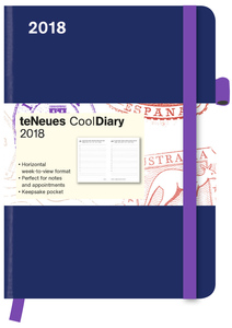 Cool Diary Petrol/Feather 2018 | Dodax.de