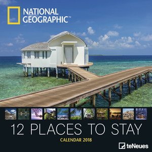 National Geographic Broschürenkalender 2018: 12 places to stay   Dodax.pl