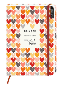 Do more things that you love, Notizbuch groß, Liniert   Dodax.at