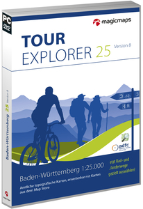 MagicMaps - Tour Explorer 25, Digital Maps, Tour planning and GPS  (Version 8.0, 5 Locations) | Dodax.ch