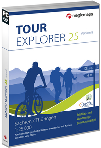 MagicMaps - Tour Explorer 25 Digital Maps, Tour planning and GPS, Saxony / Thuringia (Version 8.0, DVD-ROM) | Dodax.ch