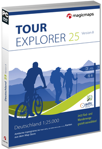 MagicMaps - TOUR Explorer 25 Set Ost, Digital Maps, Tour planning and GPS (Version 8.0, DVD-ROM, Windows) | Dodax.ch