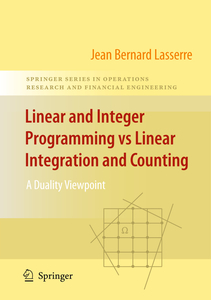Linear and Integer Programming vs Linear Integration and Counting   Dodax.ch