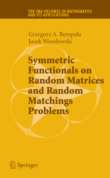 Symmetric Functionals on Random Matrices and Random Matchings Problems | Dodax.pl