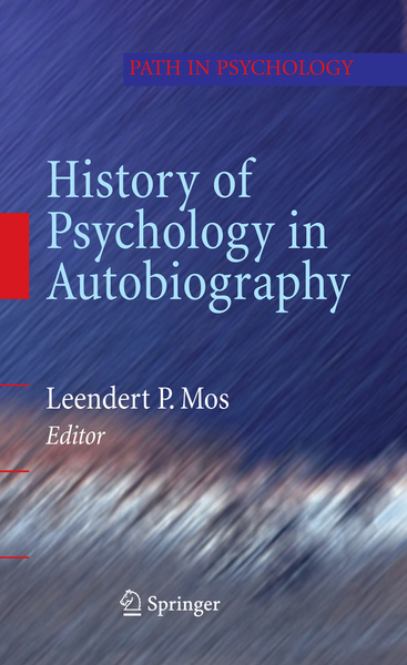 History of Psychology in Autobiography   Dodax.ch