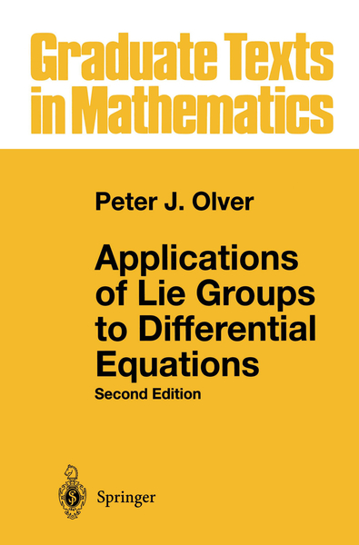 Applications of Lie Groups to Differential Equations | Dodax.pl