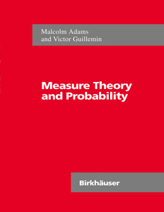 Measure Theory and Probability   Dodax.pl