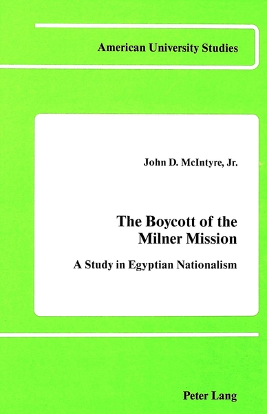The Boycott of the Milner Mission | Dodax.de