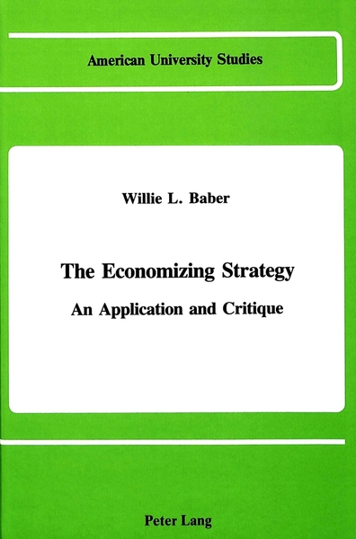 The Economizing Strategy | Dodax.at
