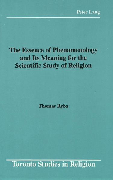 The Essence of Phenomenology and Its Meaning for the Scientific Study of Religion | Dodax.ch