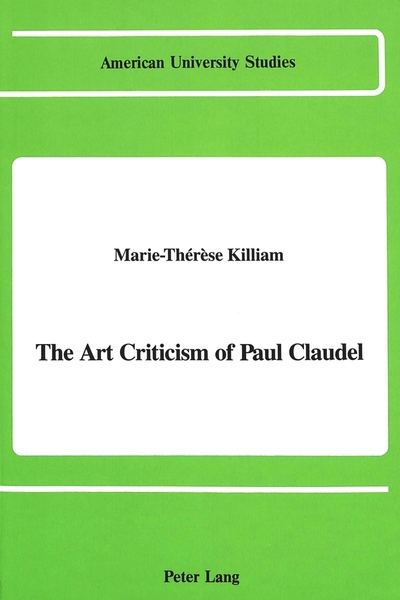 The Art Criticism of Paul Claudel | Dodax.at