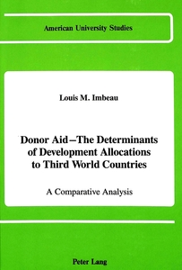Donor Aid - The Determinants of Development Allocations to Third World Countries | Dodax.de