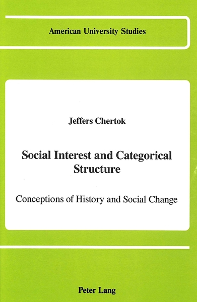 Social Interest and Categorical Structure | Dodax.at