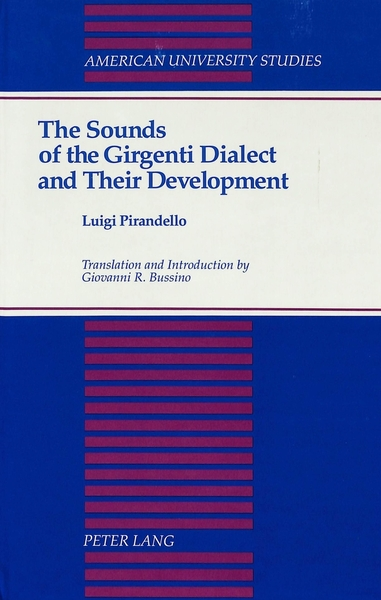 The Sounds of the Girgenti Dialect and Their Development   Dodax.ch