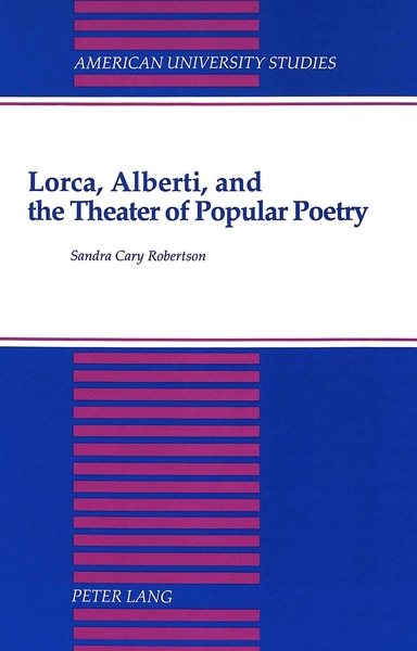 Lorca, Alberti, and the Theater of Popular Poetry | Dodax.at