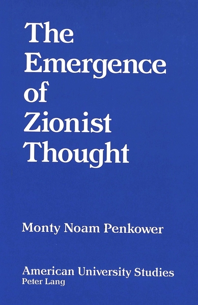 The Emergence of Zionist Thought | Dodax.de