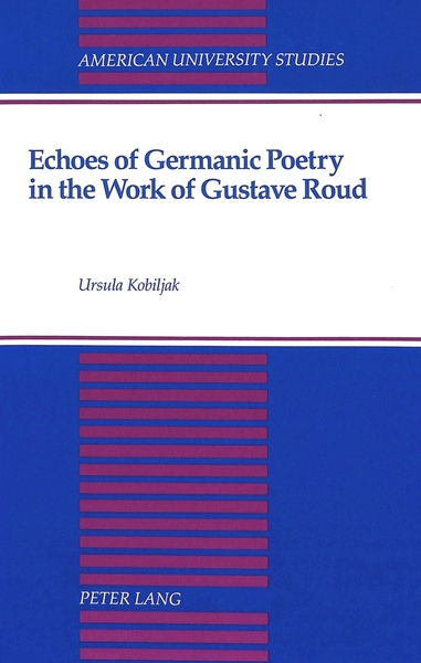 Echoes of Germanic Poetry in the Work of Gustave Roud | Dodax.at