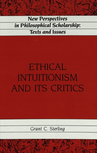 Ethical Intuitionism and Its Critics   Dodax.de