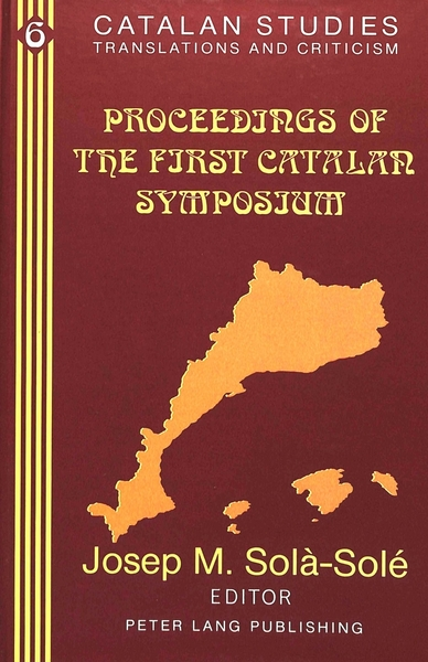 Proceedings of the First Catalan Symposium | Dodax.ch