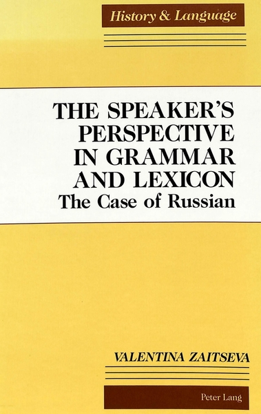 The Speaker's Perspective in Grammar and Lexicon | Dodax.ch