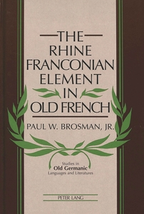The Rhine Franconian Element in Old French | Dodax.at