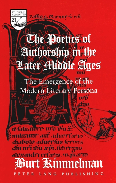 The Poetics of Authorship in the Later Middle Ages | Dodax.at