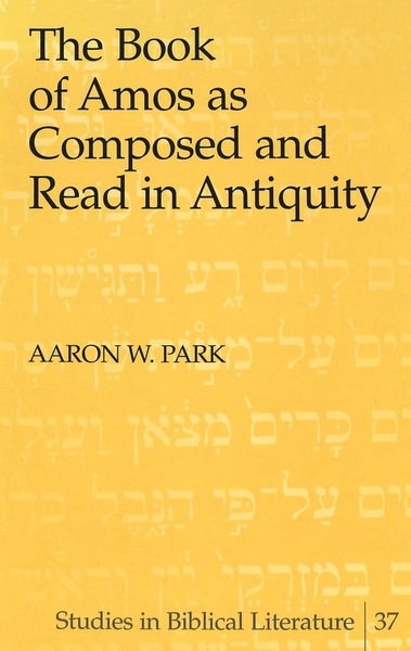 The Book of Amos as Composed and Read in Antiquity | Dodax.de