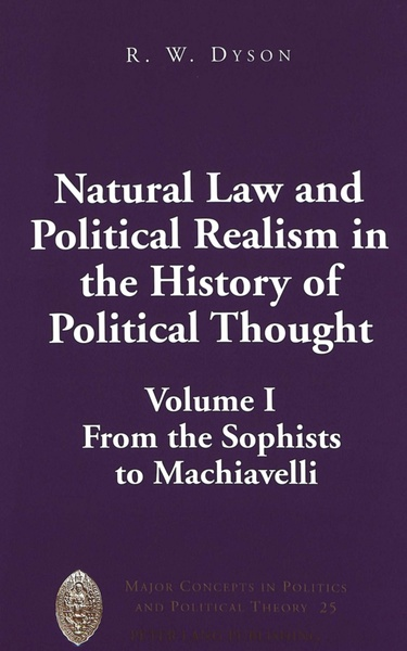 Natural Law and Political Realism in the History of Political Thought   Dodax.at