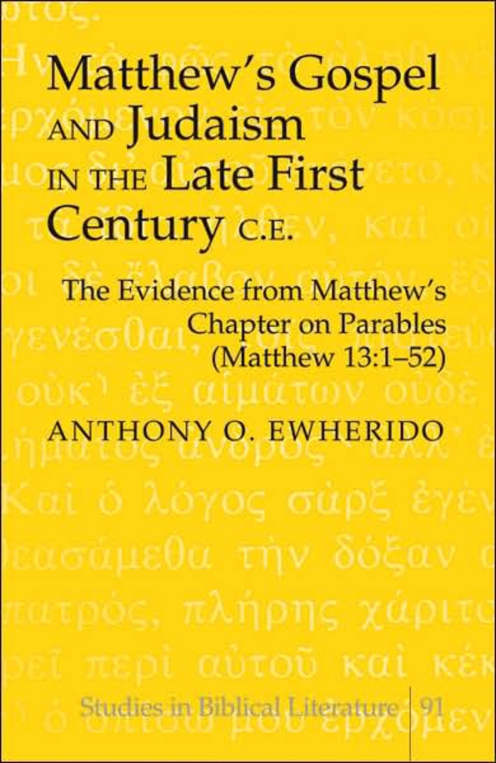 Matthew's Gospel and Judaism in the Late First Century C.E. | Dodax.pl
