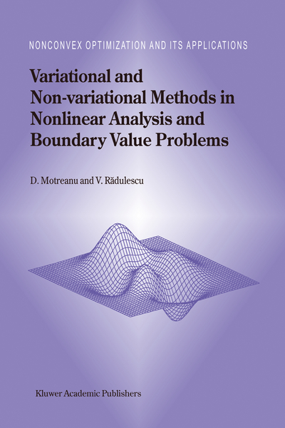 Variational and Non-variational Methods in Nonlinear Analysis and Boundary Value Problems | Dodax.pl