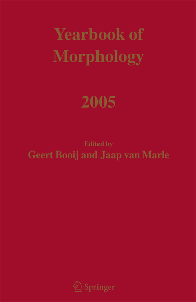 Yearbook of Morphology 2005 | Dodax.pl