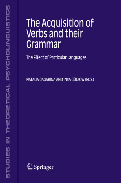 The Acquisition of Verbs and their Grammar: | Dodax.pl