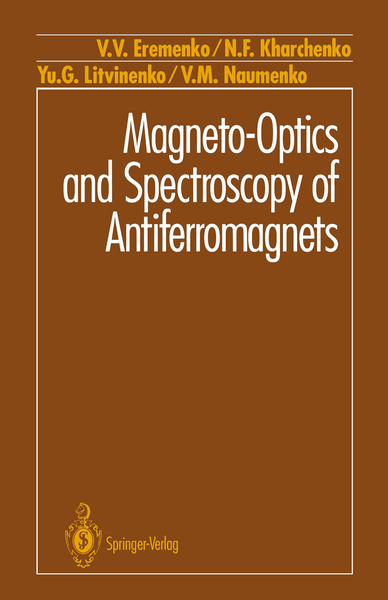 Magneto-Optics and Spectroscopy of Antiferromagnets | Dodax.pl