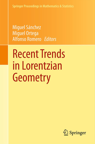 Recent Trends in Lorentzian Geometry | Dodax.ch
