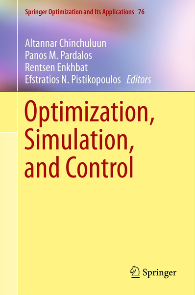 Optimization, Simulation, and Control | Dodax.ch