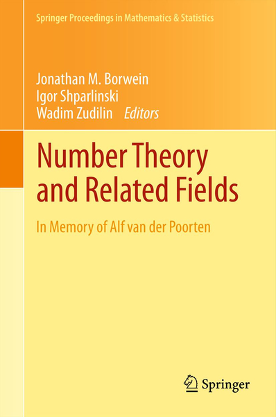 Number Theory and Related Fields | Dodax.ch