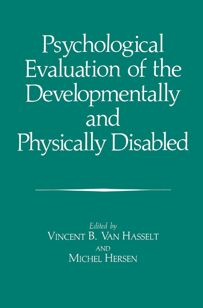 Psychological Evaluation of the Developmentally and Physically Disabled   Dodax.ch