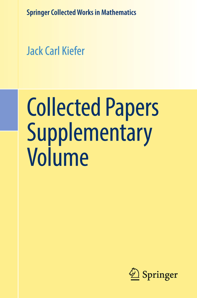 Collected Papers Supplementary Volume | Dodax.nl