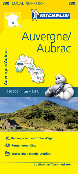 Michelin Karte Auvergne, Aubrac. Cantal, Lozère | Dodax.at