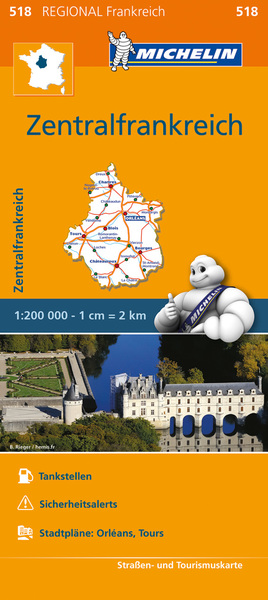 Michelin Karte Zentralfrankreich | Dodax.at