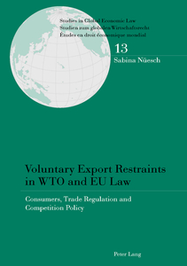 Voluntary Export Restraints in WTO and EU Law | Dodax.ch