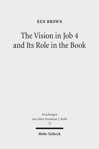 The Vision in Job 4 and Its Role in the Book | Dodax.at