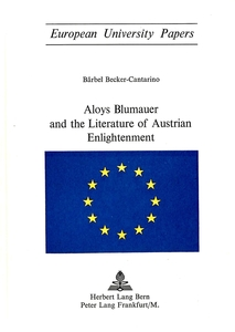 Aloys Blumauer and the Literature of Austrian Enlightenment | Dodax.ch